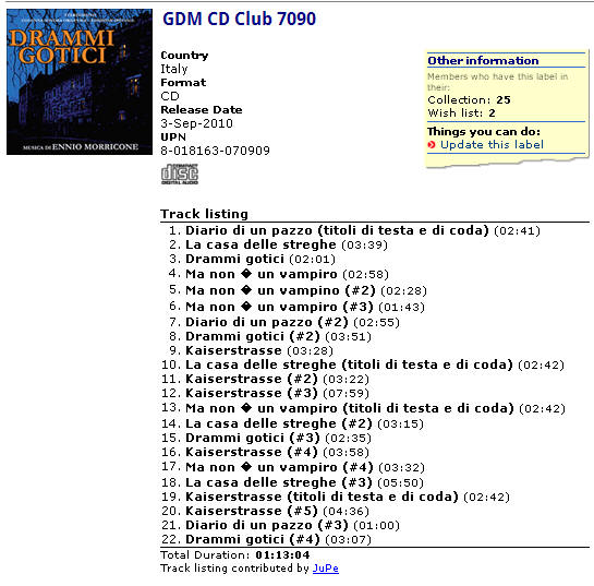 GDM CD Club 7090