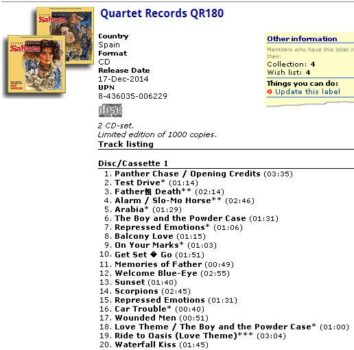 Quartet Records QR180